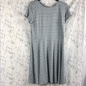 NWT LOFT Blue and White Patterned Dress